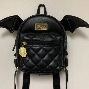 Betsey Johnson Mini Bat Backpack